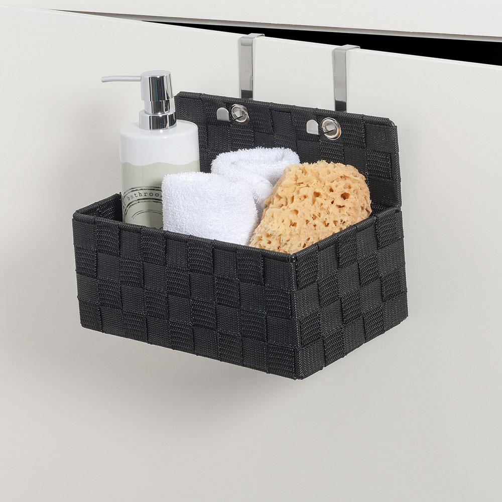 """Органайзер для ванной комнаты """"Адриа"""", подвесной, черный"""