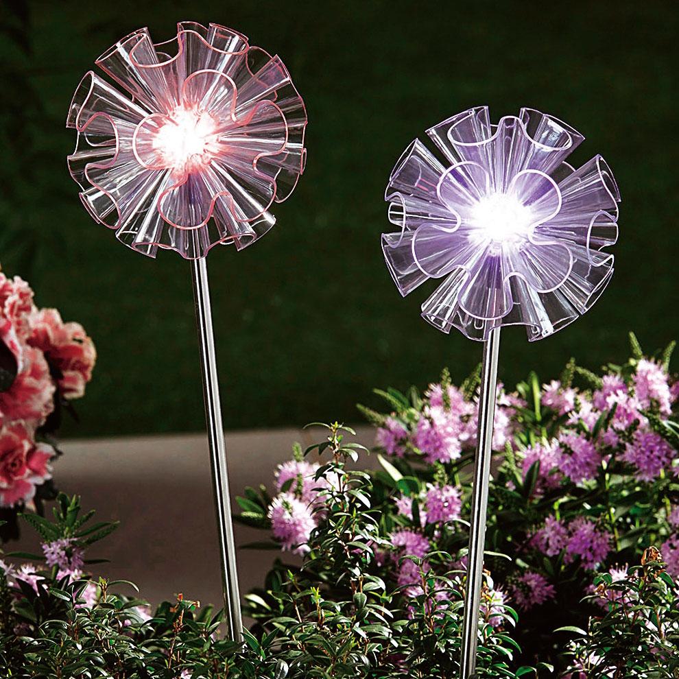 """Декоративные садовые штекеры с подсветкой """"Цветы"""", 2шт."""