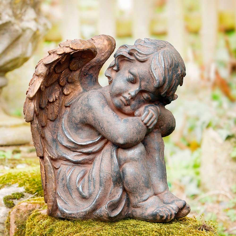 """Декоративная фигура """"Ангел - бронзовые крылья"""""""