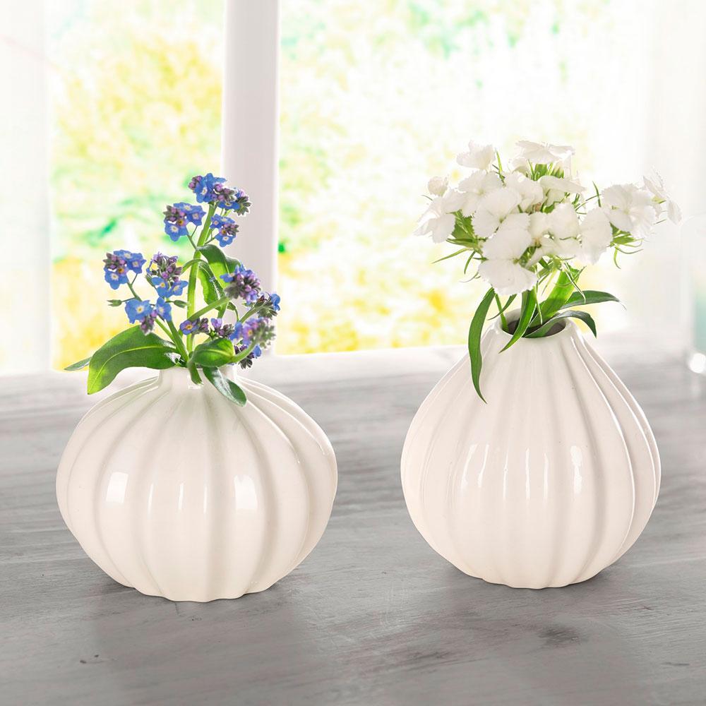 """Декоративные вазочки """"Pure White"""" 2шт."""