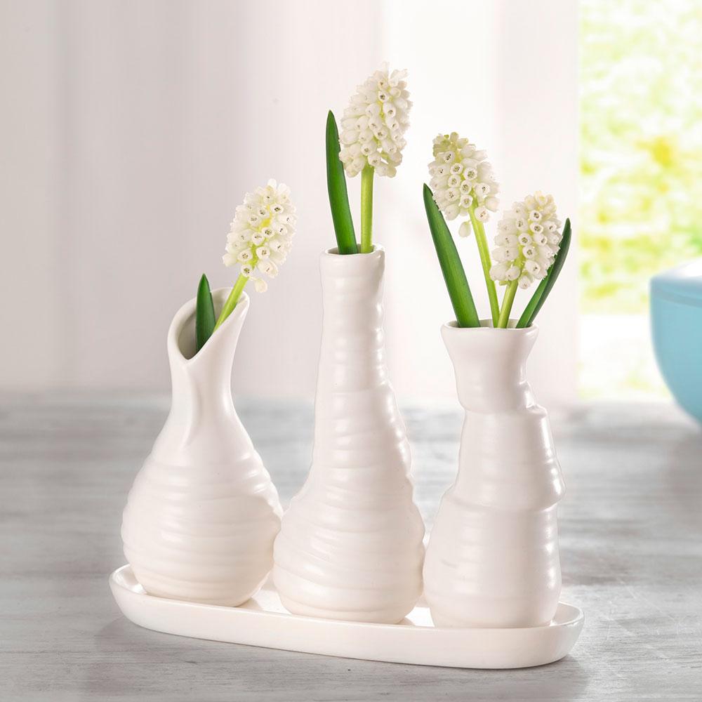 """Декоративные вазочки """"Pure White"""""""