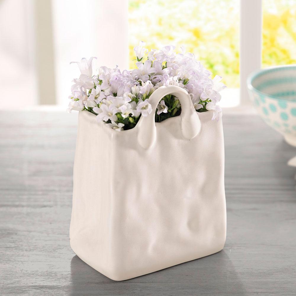 """Декоративная вазочка - сумка """"Pure White"""""""