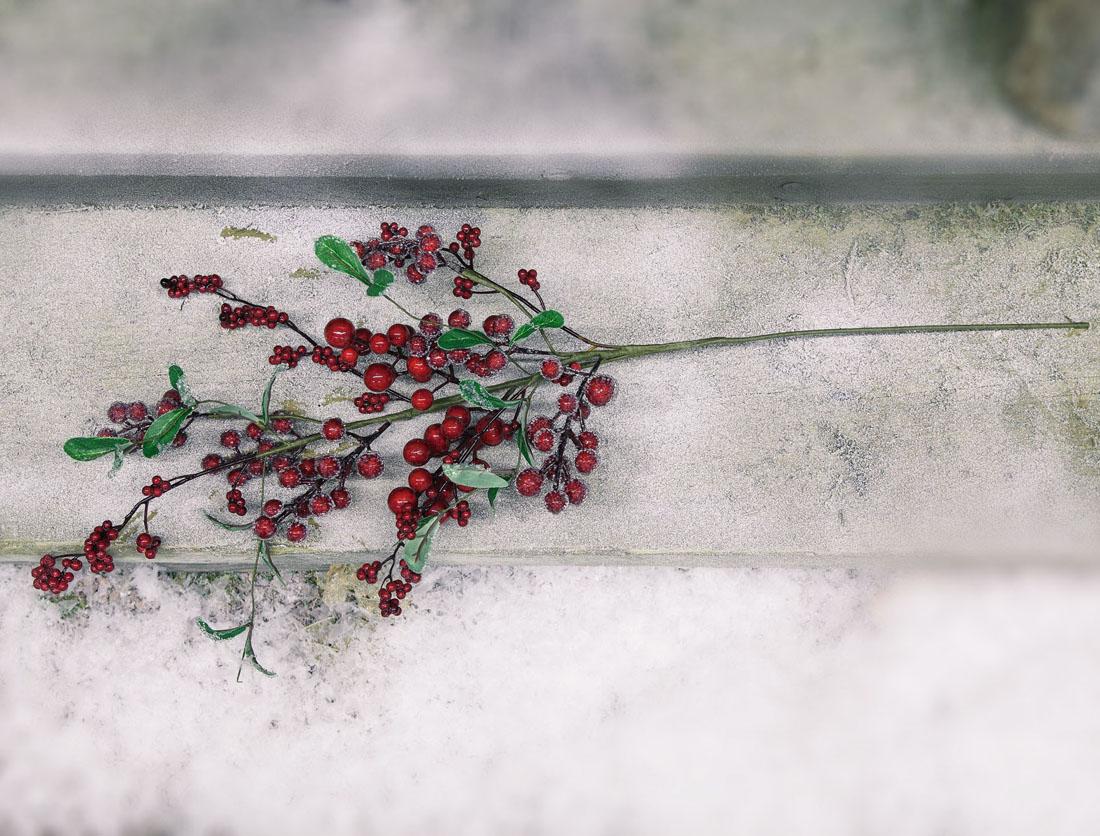 """Декоративная ветка """"Морозные ягоды"""""""
