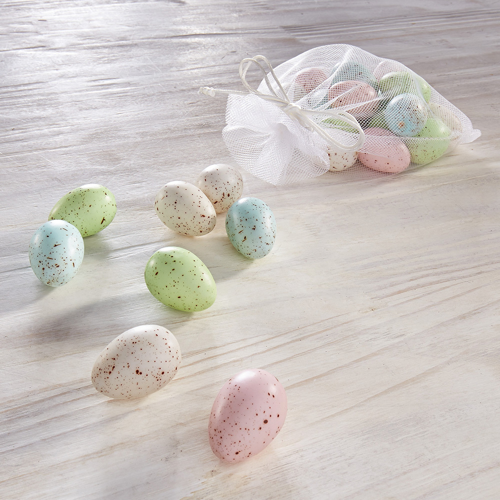 """Декоративные фигуры  """"Яйца - пастельные цвета"""", 24 штуки [06034] Декоративные яйца """"Пастельные цвета"""", 24шт"""