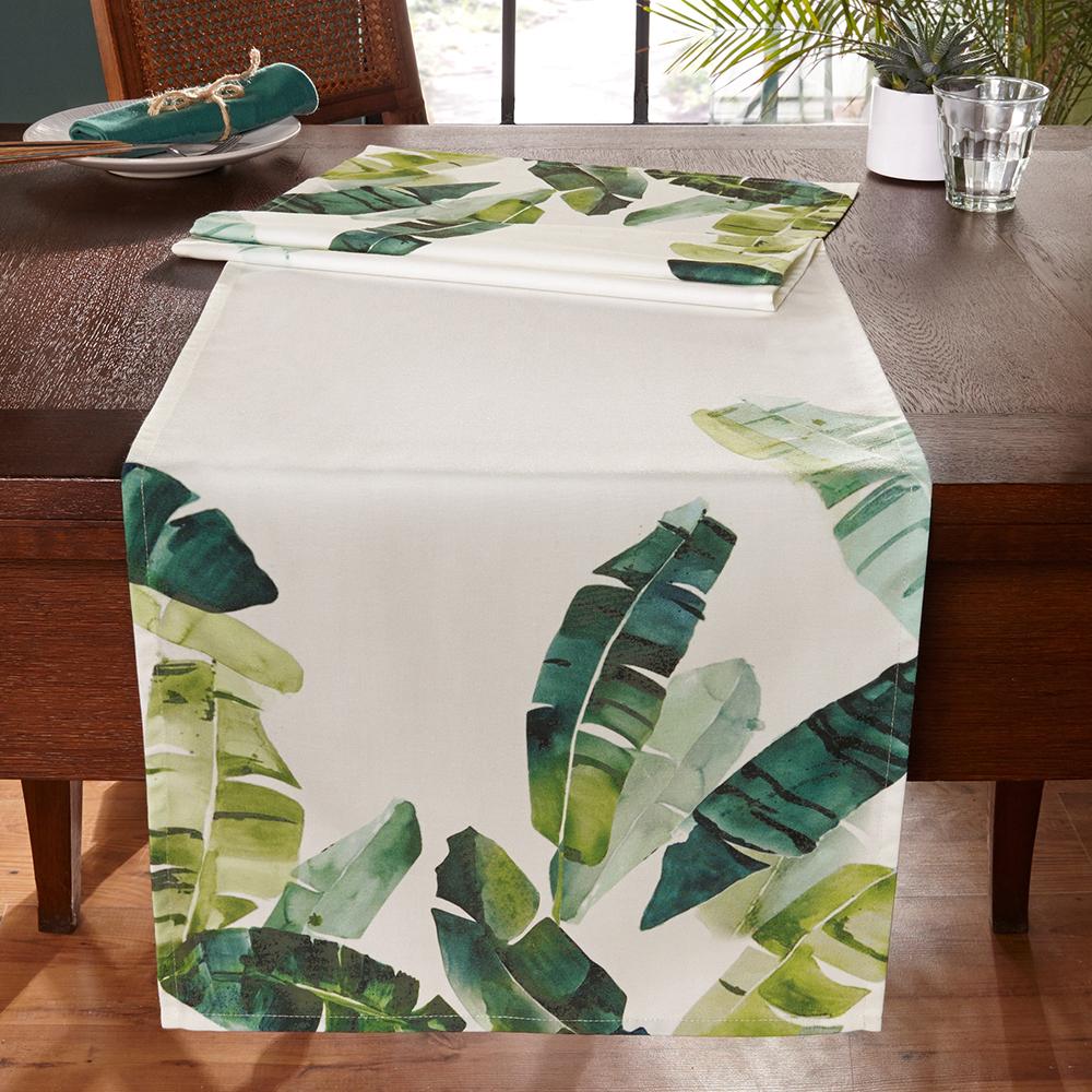 """Дорожка на стол """"Экзотическая зелень"""""""