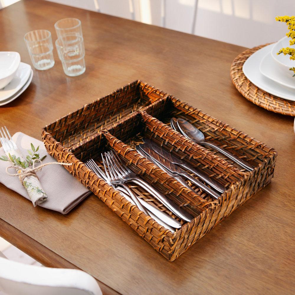 """Корзина-поднос для столовых приборов """"Natural Home"""""""