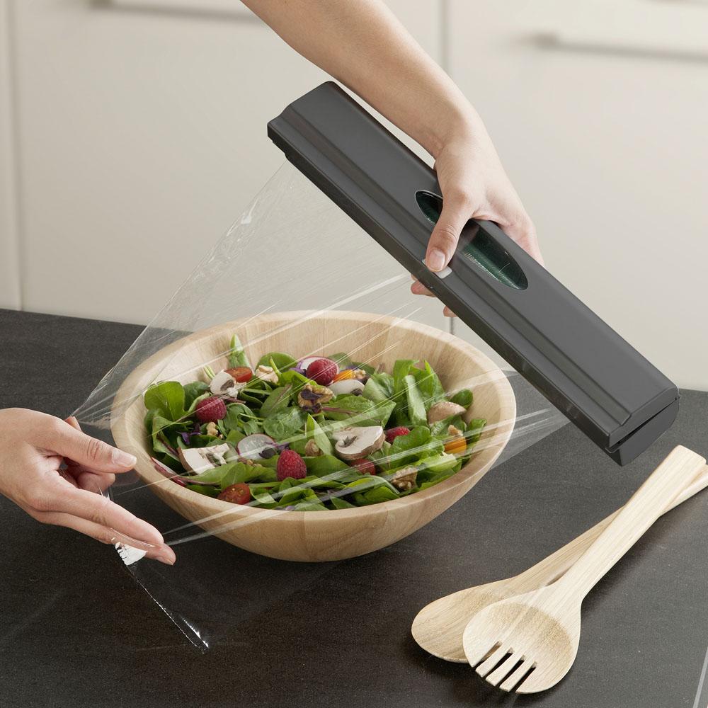 Держатель с лезвием для кухонной пленки Perfect Cutter антрацит