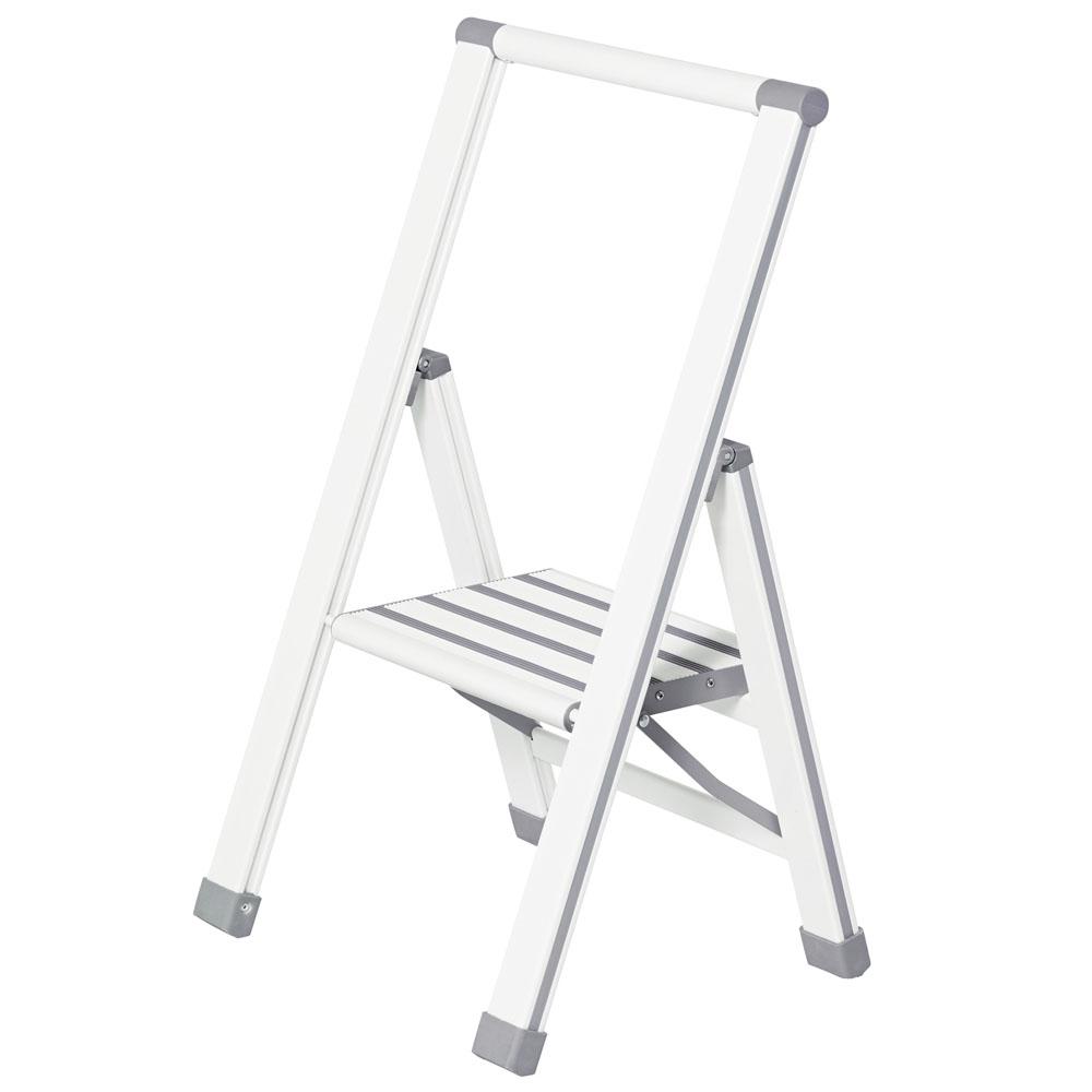 Лестница складная Aluminium, 1 ступень, белая