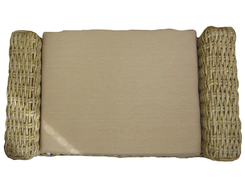 Скамья-сундук плетеная, с подушкой