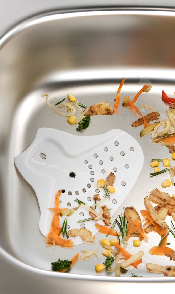 Лопатка для чистки стока в раковине