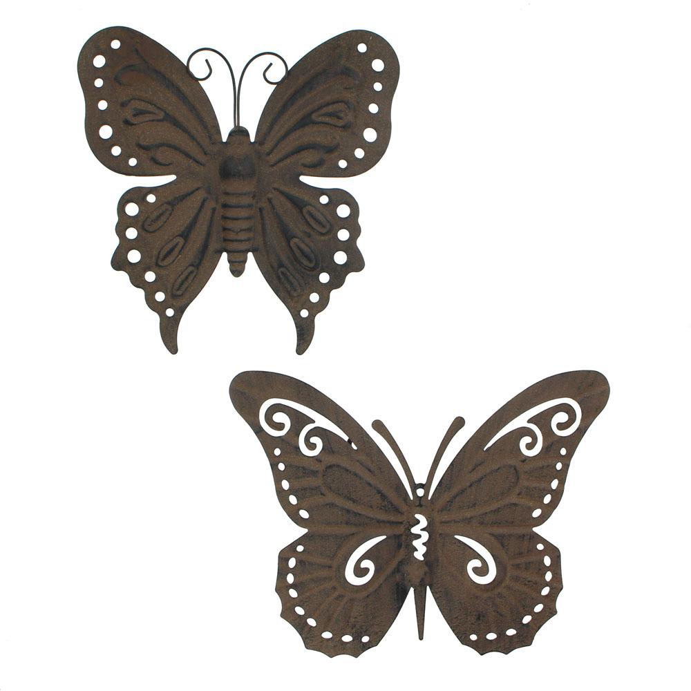 """Украшение настенное """"Бабочки"""" 2 штуки, металл [03290] Украшение настенное """"Бабочки"""" 2штуки, металл"""