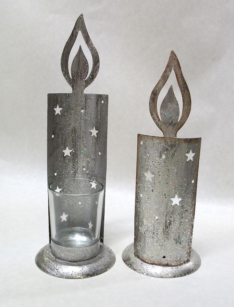 """Подсвечники """"Мерцание свечей"""", установка свечей"""