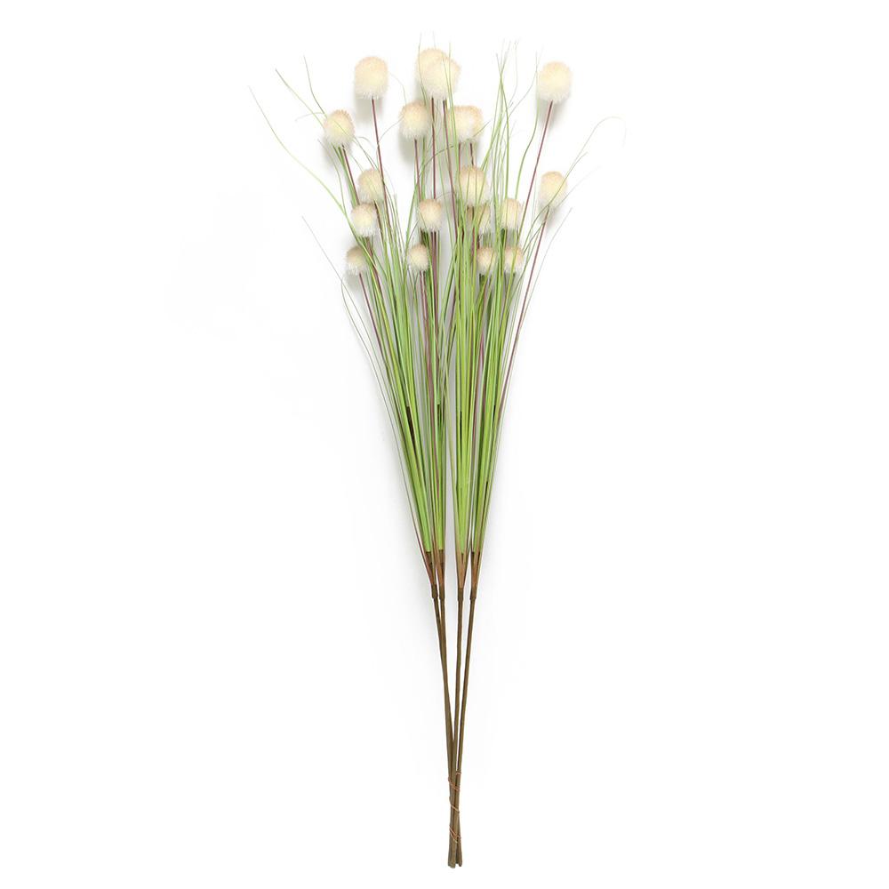 """Декоративные цветы """"Белые шары"""", 4 штуки [03816] Декоративные цветы """"Белые шары"""", 4шт"""