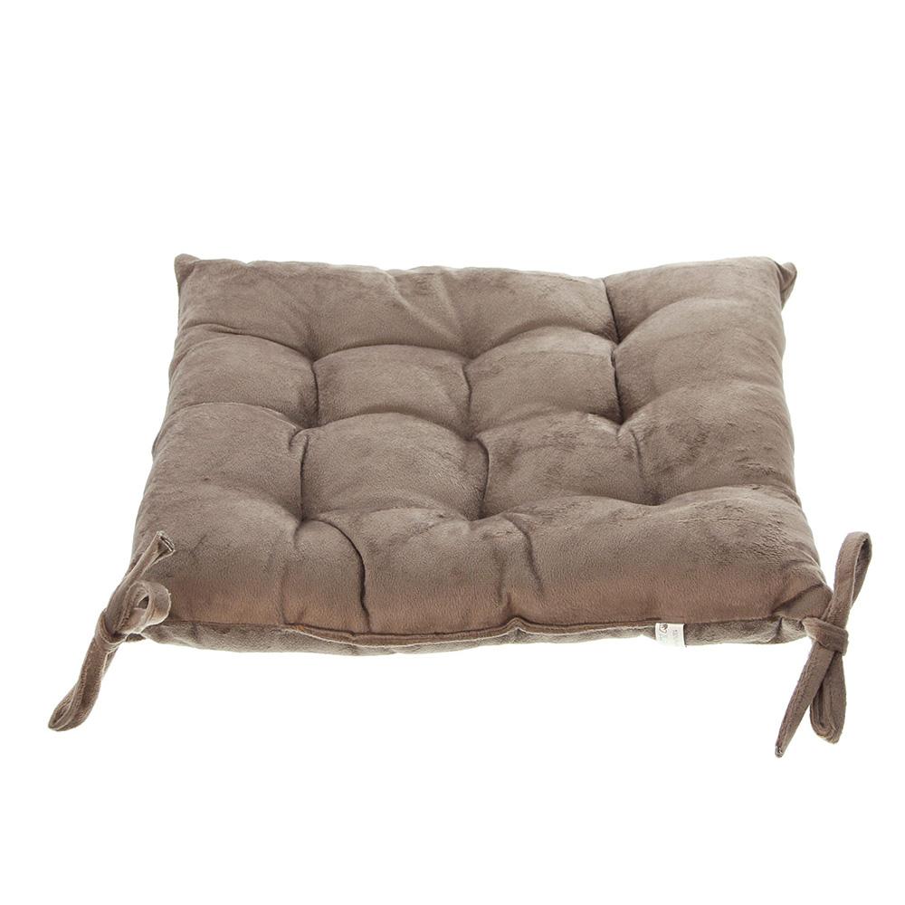 """Подушка для сидения """"Замша"""", коричневая, 40х40см [03823] Подушка для сидения """"Замша"""", коричневая, 40х40см"""