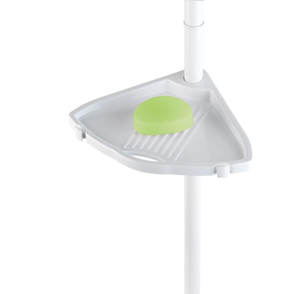 Телескопический уголок для душа Compact белый