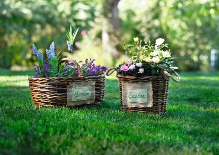 """Кашпо - корзина """"Garden"""" с ручкой [04949],"""