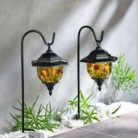 Слнечный светильник для сада ТИФФАНИ, 2шт