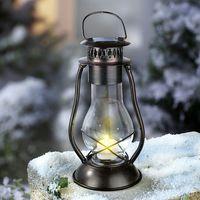 """Металлический фонарь с солнечным светильником """"Светлячок"""""""