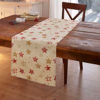 """Дорожка на стол """"Рождественские звезды"""""""
