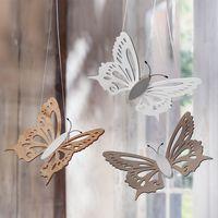 """Подвесные украшения """"Бабочки"""", 3 штуки [06603]"""