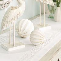 """Декоративные фигуры """"Белые шары"""", 2 штуки [06866],"""
