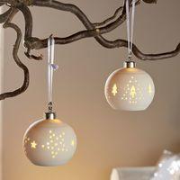 """Подвесные украшения со светодиодной подсветкой """"Фарфоровые шары"""", 2 штуки [07018],"""