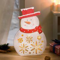 """Декоративная фигура со светодиодной подсветкой """"Снеговик"""" [07054],"""