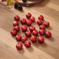 """Декоративные фигуры """"Красные яблоки"""", 24 штуки [07064],"""
