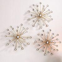 """Настенные украшения """"Цветы-кристаллы"""", 3 штуки [07172],"""