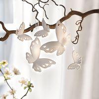 """Подвесные украшения """"Белые бабочки"""", 5 штук [07229],"""