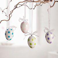 """Подвесные украшения """"Пасхальные яйца в разноцветный горошек"""", 4 штуки [07230],"""