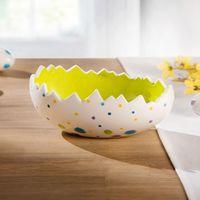 """Декоративная чаша """"Пасхальное яйцо в разноцветный горошек"""" [07231],"""
