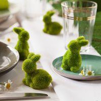 """Декоративные фигуры """"Зайчики - зеленый мох"""", 12 штук [07232],"""