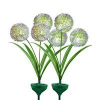 """Декоративные штекеры """"Цветы"""" с подсветкой, 2 штуки [07338],"""