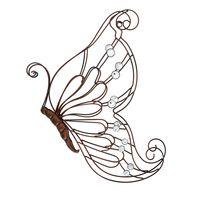 """Настенное украшение """"Бабочка с жемчужинками"""" [07348],"""