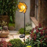 """Декоративный садовый штекер с солнечным светильником """"Цветок"""" [07393],"""