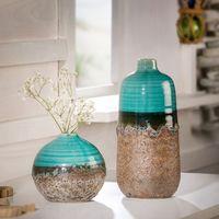 """Декоративные вазы """"Морская вода"""", 2 штуки [07425],"""