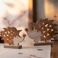 """Декоративные фигуры со светодиодной подсветкой """"Ежики"""", 2 штуки [07637],"""