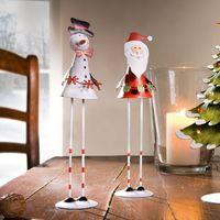 """Декоративные фигуры """"Санта и снеговик"""", 2 штуки [07645],"""