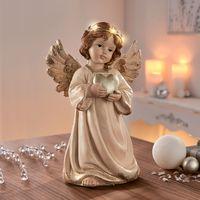 """Декоративная фигура со светодиодной подсветкой """"Ангелок с сердечком"""" [07678],"""
