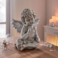 """Декоративная фигура """"Ангелок - серебряные крылья"""" [07680],"""