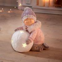 """Фигура со светодиодной подсветкой """"Девочка со снежком"""" [07684],"""
