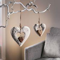 """Подвесные украшения """"Сердечки"""", 2 штуки [07688],"""