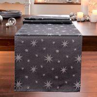 """Дорожка на стол """"Серебряные звезды"""" [07711],"""