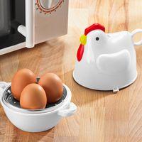 """Приспособление для варки яиц в микроволновой печи """"Курочка"""" для 3 яиц [07747],"""