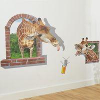 """Настенный 3D стикер """"Жираф"""" [07857],"""