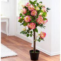 """Декоративное растение """"Розовый куст"""" со светодиодной подсветкой [07863],"""