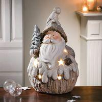 """Декоративная фигура со светодиодной подсветкой """"Санта в снегу"""" [07949],"""