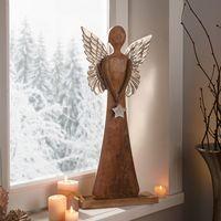 """Декоративная фигура """"Ангел - серебряная звезда"""" [07950],"""