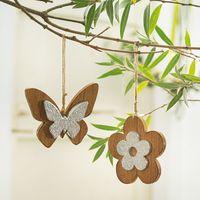 """Подвесные украшения """"Цветок и бабочка"""", 2 штуки [07990],"""